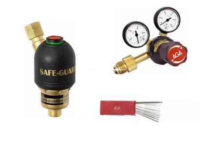 Gasregulatorer och övriga tillbehör