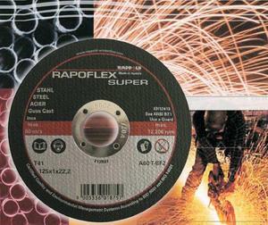 Kapskiva Rappold Rapoflex 125 x 1,0mm för rostfritt